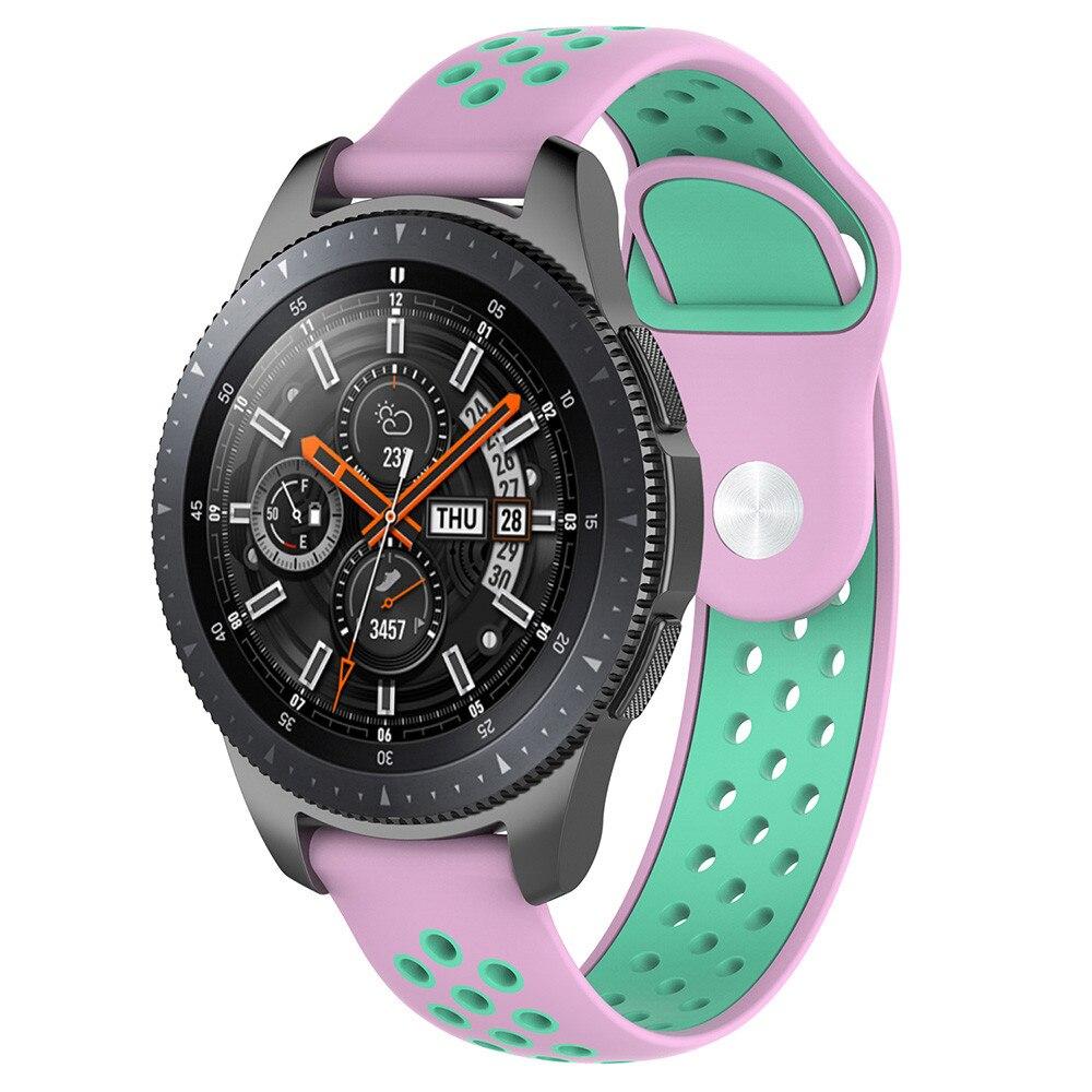 New Fashion Sport Silicone Band Wrist Strap 22mm For Samsung Galaxy watch Classic Smart Watch 46/42MM l0822#3