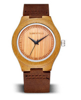 High quality fashion sandalwood watches leather quartz wristwatches lovers best gift
