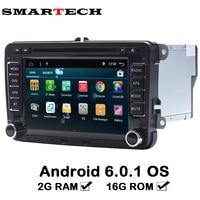 2Din Auto Multimedia Quad Core 2G RAM 16GB ROM Android 6 Car DVD GPS Navigation Radio