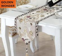 Luxury European Style Embroidery Retro Table Runner Fashion Runners Home Textile