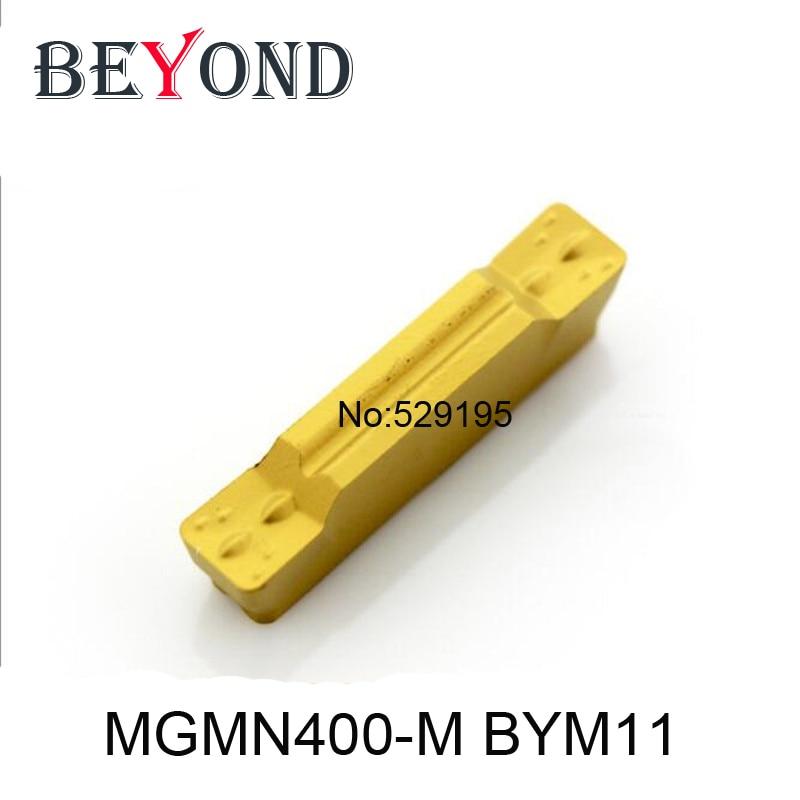 BEYOND 10pcs MGMN 400 MGMN400-M BYM11 کاربید داخلی درج شیار شیار MGEHR MGIVR ابزار برش ابزار تراشکاری