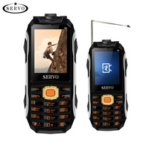 SERVO MAX Magic Voice Three SIM Cards Analog TV Mobile Phones Laser Flashlight Power Bank Rugged Cellphones With Free Waist Clip