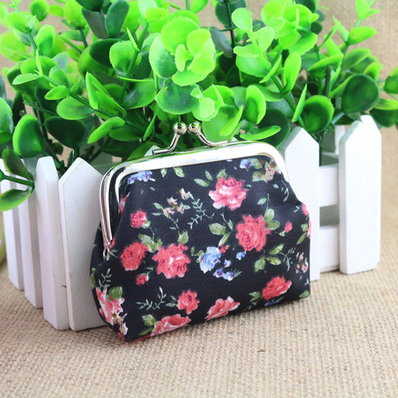 Yesello Polyester flower coin purses kids wallet hand bag