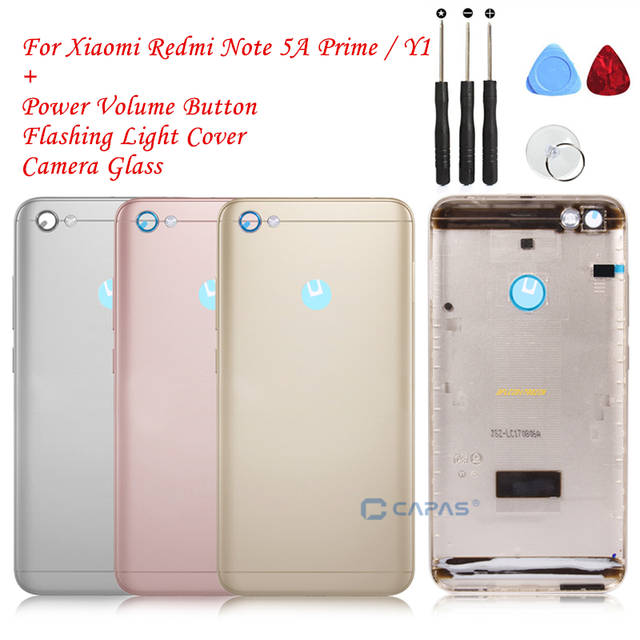 US $6 74 25% OFF Original For Xiaomi Redmi Note 5A Pirme Back Battery  Housing Cover Redmi Note 5A Prime Cover + Camera Glass Replacement Parts-in