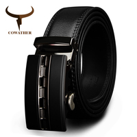 COWATHER Famous Brand Belt Men Top Quality Genuine Luxury Leather Belts For Men Strap Male Metal