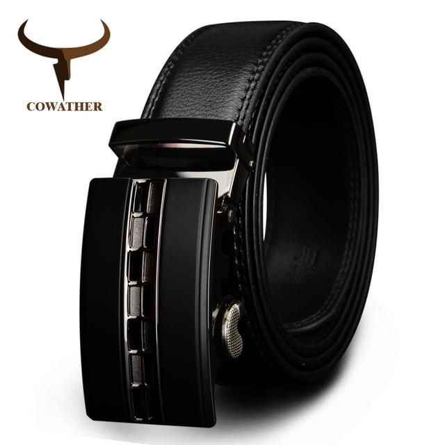 6aed39024445091 Cowather известный бренд мужской ремень Одежда высшего качества из натуральной  кожи роскошные кожаные ремни для мужчин