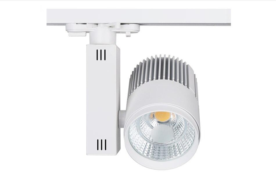 10pcslot Track Lighting Rail Lamp Spot 30W COB Clothing Shoes Shop Store Black White Track Lights LED Rail Spotlight 3 phase (7)