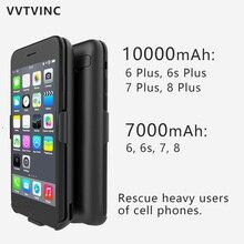 VVTVINC зарядный чехол 10000 7000 мАч батарея зарядное устройство чехол Мощность чехол для iPhone 6 6plus 6s 6s Plus 7 7plus 8 8plus power Bank