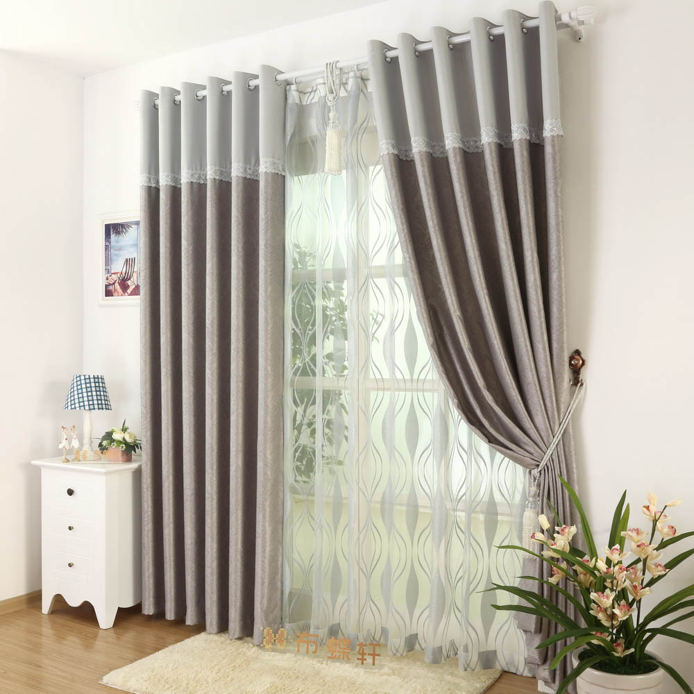 Curtain Living Room Full Blackout Suede Blind Elegant Ready Made Room Divider Thick Roman