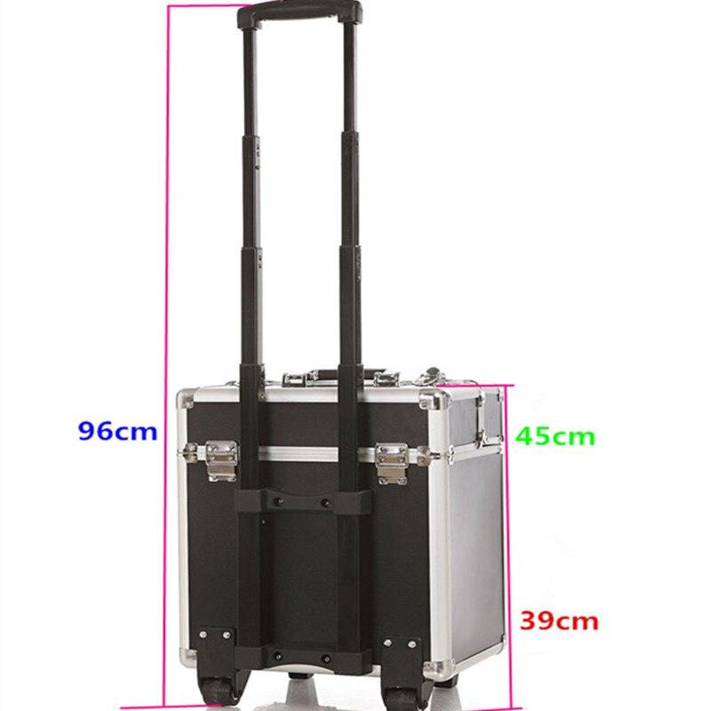 KUNDUI Högkvalitets stor resväska UNEQUAL Travel Trolleyväska - Väskor för bagage och resor - Foto 3