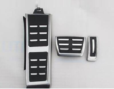 Sedan  anti-skid car pedal gas Brake pad foot rest cover accelerator for Audi A4 A5 A6 A7 Q5 AT automatic transmission 2013-2015 dee car accessory for honda new civic fuel brake foot rest automatic manual pedals plate non slip accelerator brake at pedal pad