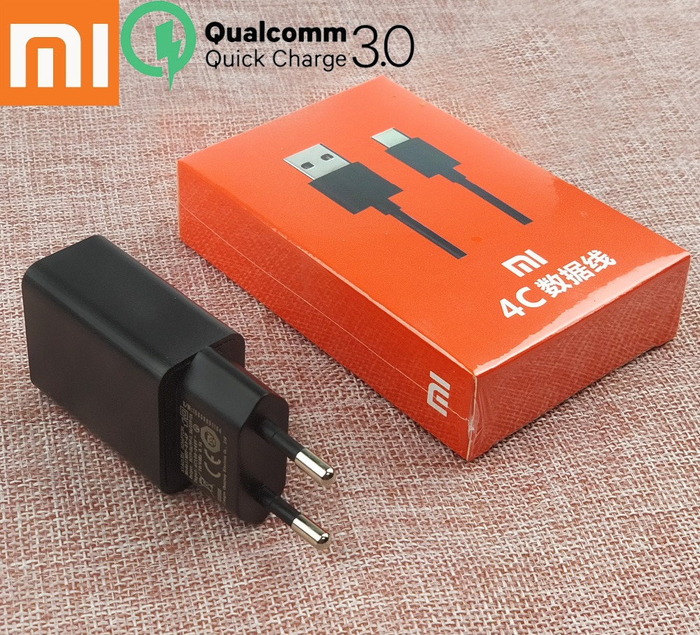 Xiaomi Mi 4C Charger Quick Fast 12V 1.5A QC3.0 EU Wall Charge Adapter + Usb type-c cable For mi 5s 5 4s 4c mix 2 max2 Smartphone