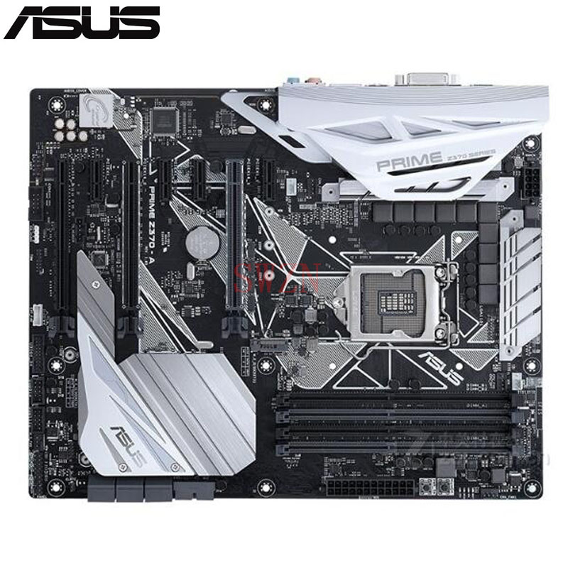 original New Desktop motherboard For ASUS PRIME Z370-A Z370 LGA 1151 I7 I5 I3 4*DDR4 support 64G 6*SATA3 2*M.2 ATX for msi z170a krait gaming 3x original new desktop motherboard for intel z170 socket lga 1151 for i3 i5 i7 ddr4 64g sata3 atx