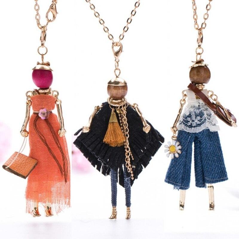 Европа и США Новые популярные куклы Цепочки и ожерелья длинные цепочки женские ювелирные изделия Бесплатная отгрузок! ...