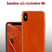 Calf leather Phone Cases For iphone X XS XR MAX Ultra-thin design Business Case