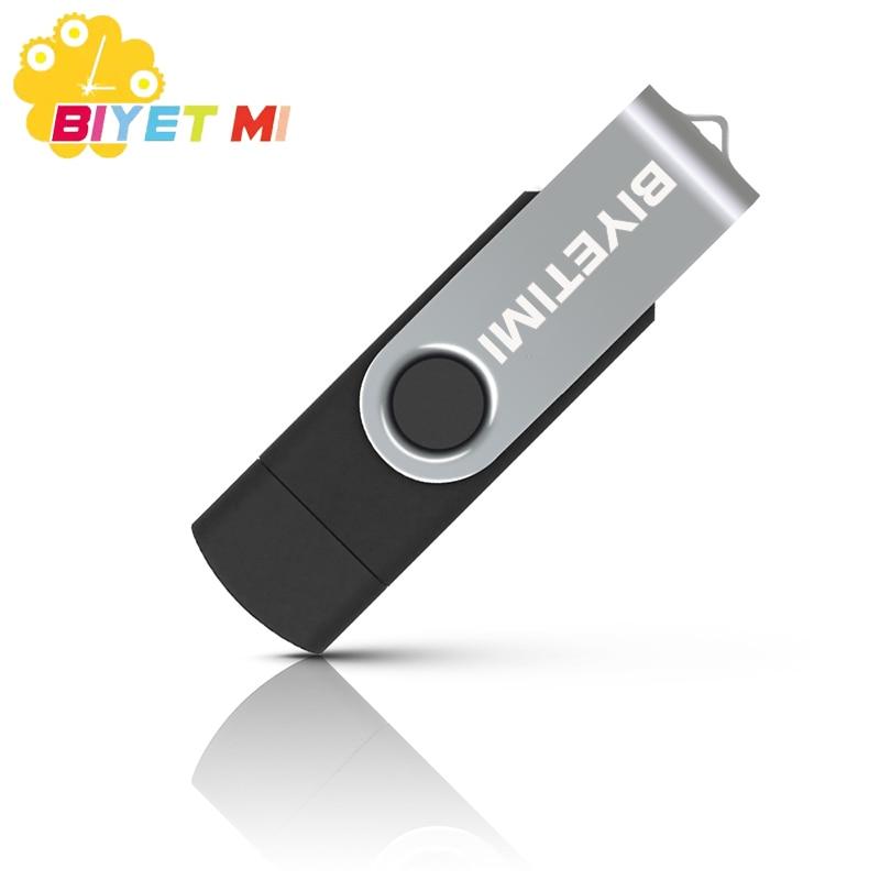 Biyetimi 128gb 32GB OTG USB Flash Drive 16GB Pen Drive Pendrive 4gb 8gb usb memory stick 4GB Micro usb Disk 64gb in USB Flash Drives from Computer Office