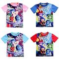 2016 HOT Toddler Baby Kids Boys Girls Cartoon Inside Out Short Sleeve T-shirt Tops For 1-6Y