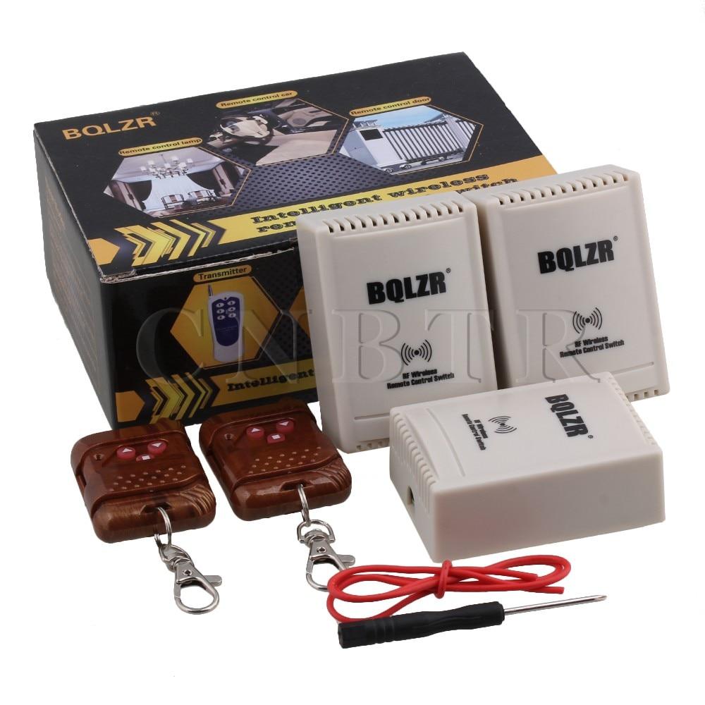 ФОТО 1CH 220V BQLZR Garage Remote Switch 2 Brown Transmitter 3 Receiver 433MHz