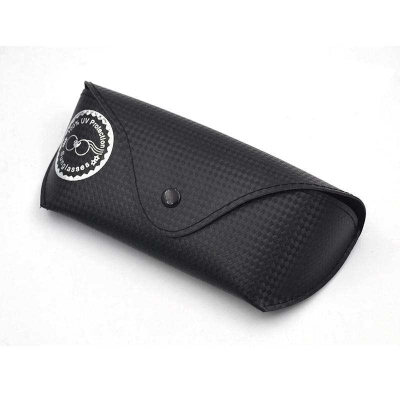 Portable Plaids Leather Eye Glasses Sunglasses Box Case Black Cover Folding Sunglasses Case Wearing On Belt Cases 172*72*45mm L3