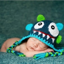 Hat around 37cm -39cm Baby handmade wool hat children cap knitted hat monster cap