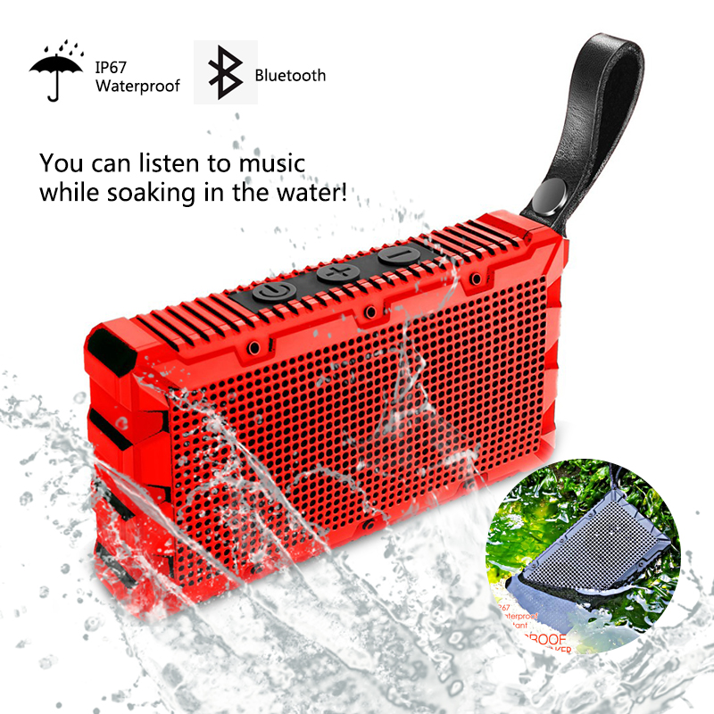 Waterproof Wireless Bluetooth Speaker Best Portable Outdoor Mini Column Box Loudspeaker Speaker Design for iPhone Xiaomi цена 2017