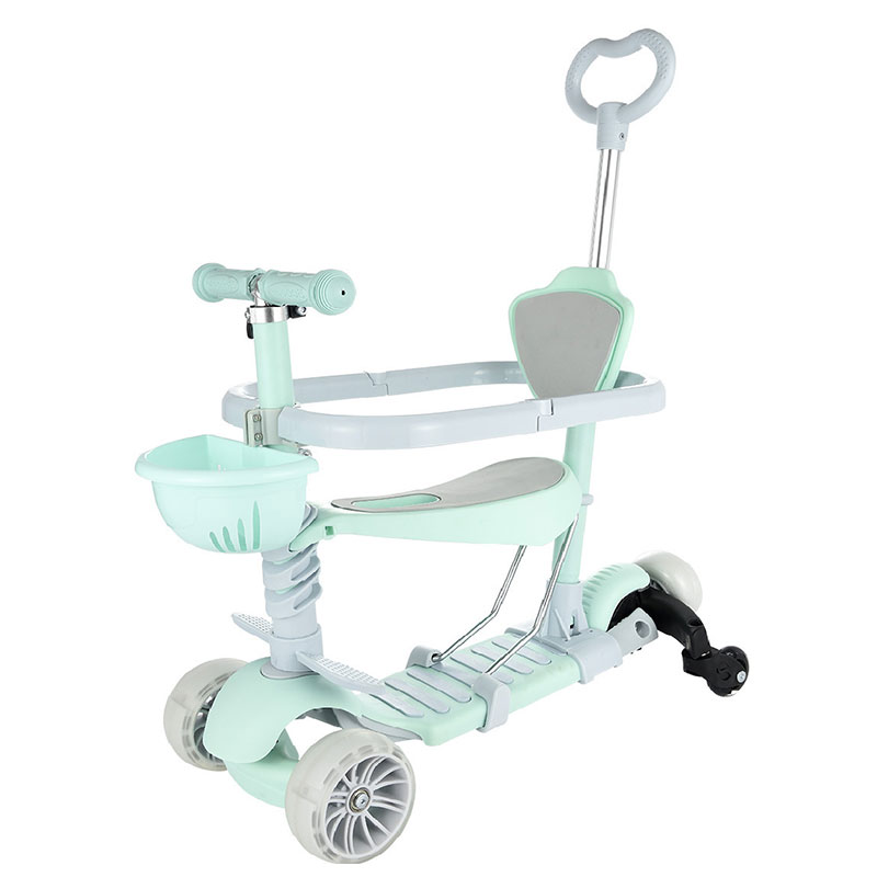 3 Wheels Children s Scooter Aluminium Alloy Kid Scooter Adjustable Height With LED Flash Wheel For