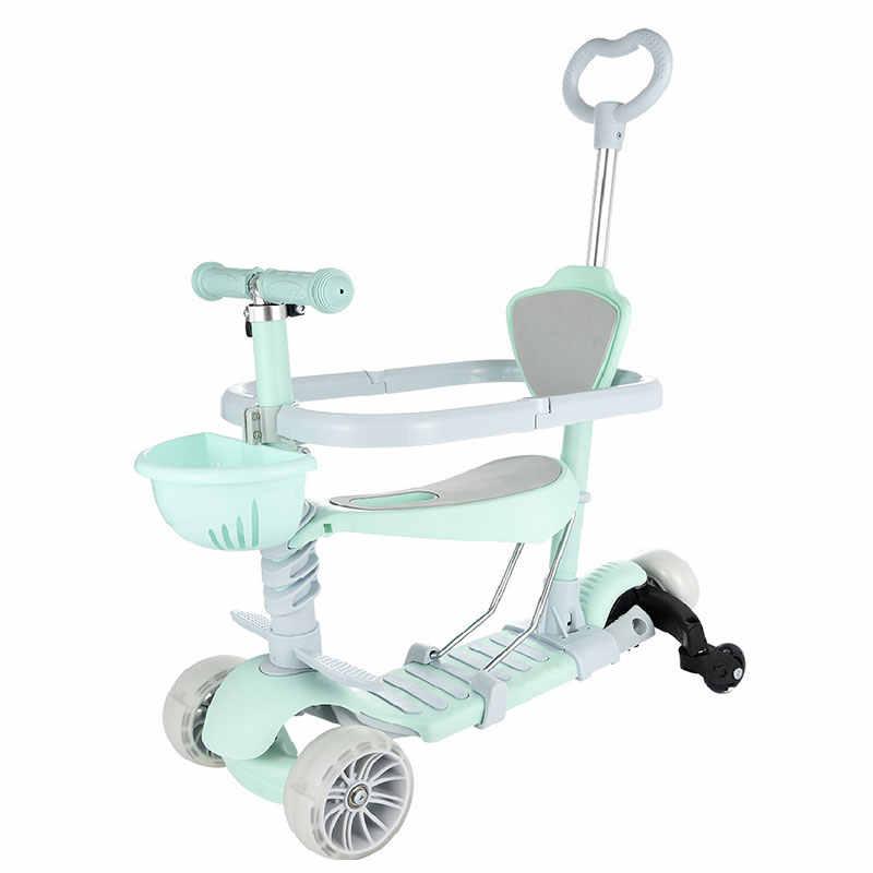 3 輪子供のスクーターアルミ合金子供スクーター高さ調節 Led フラッシュホイール少年少女のためのギフト