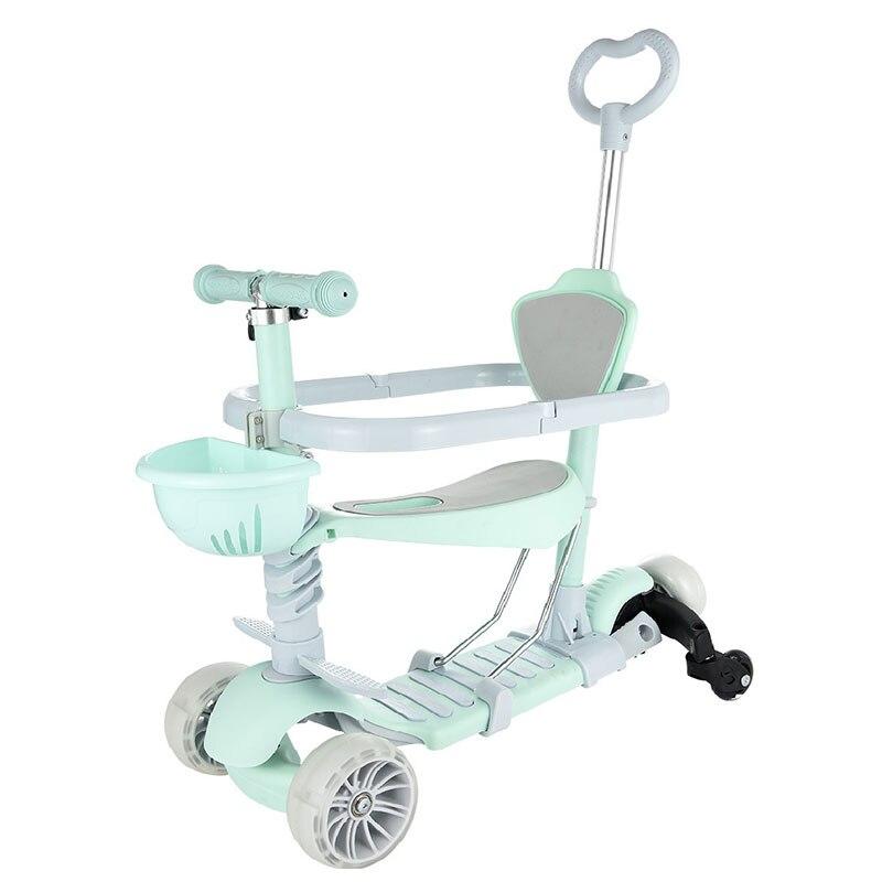 3 koła skuter dla dzieci ze stopu Aluminium ze stopu Aluminium dla dzieci skuter regulowana wysokość z lampą błyskową LED koła dla chłopców dziewcząt prezenty w Samochody dla dzieci od Zabawki i hobby na  Grupa 1