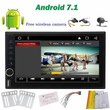 Octa-Core Android 7.1 Car NO DVD Player 2Din Car Stereo GPS Navigation Touch Screen Vehicle Auto Radio Audio Support WiFi+Camera