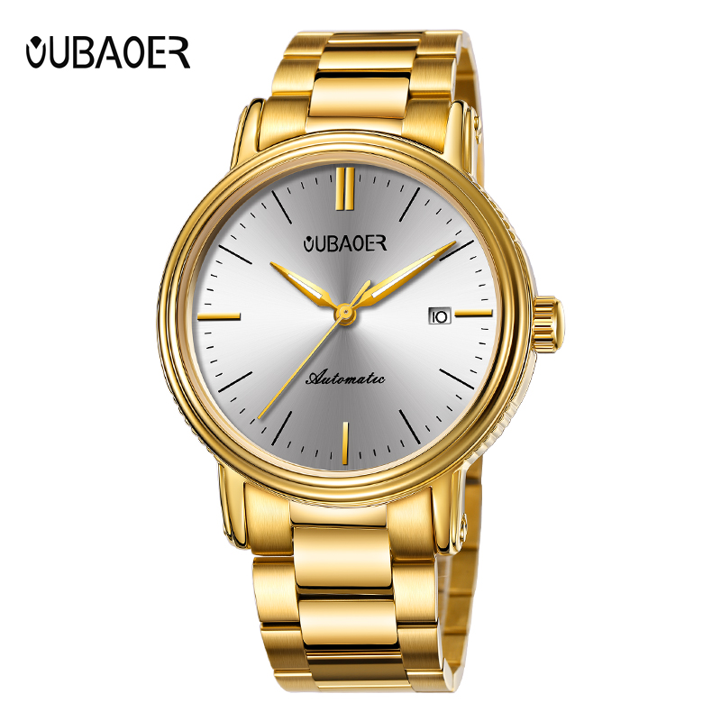 OUBAOER Luxury Watch Men Roles Automatic Mechanical Watches Stainless Steel Auto Date Wristwatches Reloj Hombre Automatic OB2024 luxury tss watch men sapphire glass date stainless steel mens sport black wristwatches automatic mechanical watches reloj hombre