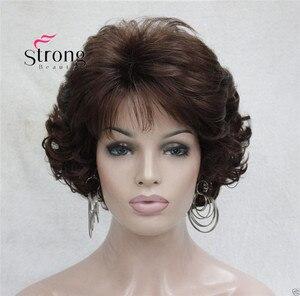 Image 2 - Ngắn Xoăn DARK AUBURN Tóc Tổng Hợp Toàn bộ tóc giả nữ Dày Tóc Giả Cho Hàng Ngày
