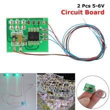 2 piezas DIY de construcción de la escala de arena de la tabla del modelo de circuito de la señal de tráfico HO escala tren miniaturas