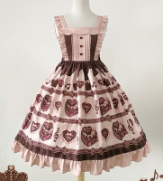 Sweet Lolita Dress Chocolate Pleated Empire Lolita Jsk Dress