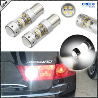 2pcs 6000K Xenon White CRE E 1156 7506 S25 BA15s 21W LED Replacement Bulbs For Brake