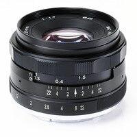 Широкоугольный 35 мм 35 F1.7 Руководство объектив для Sony NEX3N NEX5T NEX6 NEX7 NEX-F3 NEX-C3 A3000 A5000 a5100 a6000 Камера черный