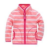 2016 New Fashion Spring Autumn Cute Girls Fleece Jacket 2 7 Years Children Outerwear Coats Baby