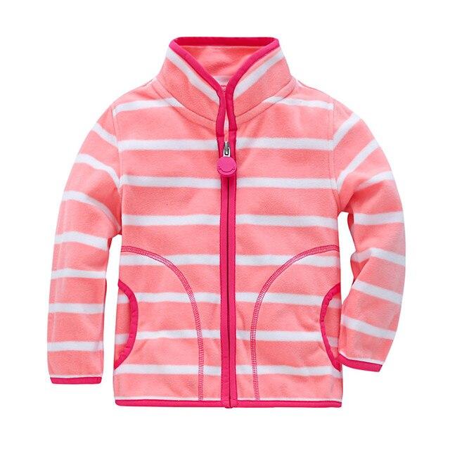 2018 новые модные Демисезонный для мальчиков и девочек флисовое пальто От 2 до 7 лет Детская Верхняя одежда; детские пальто детские спортивный костюм детские толстовки с капюшоном; куртка