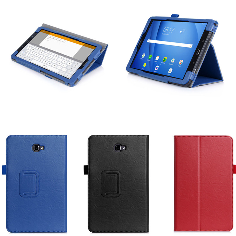 WY5 PU Leather Stand Hand Strap Cases For Samsung Galaxy Tab A 10.1 inch (2016) T585 T580 SM-T580 T580N Business Book Cover