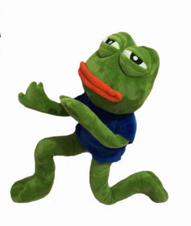42cm Magic Expression Pepe The Frog Sad Frog Collection Plush Stuffed Toys Christmas Birthday Gifts
