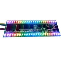 Free shipping led audio level indicator Adjustable RGB 24 LED Dual channel 24 segments kiy kit