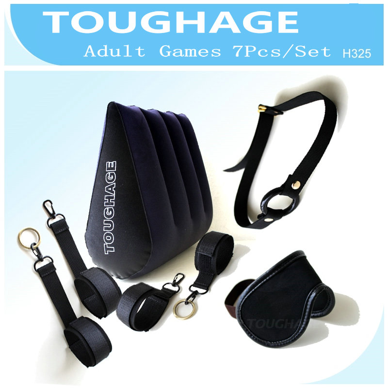 TOUGHAGE 7Pcs/Set Sex Furniture For Couples Triangle Sex Pillow Inflatable Cushion Wedge Adult Game Sex Toys Machine Accessories toughage inflatable sex furniture triangle sex pillow erotic wedge sex cushion oreiller sofa adult games sex toys for couples