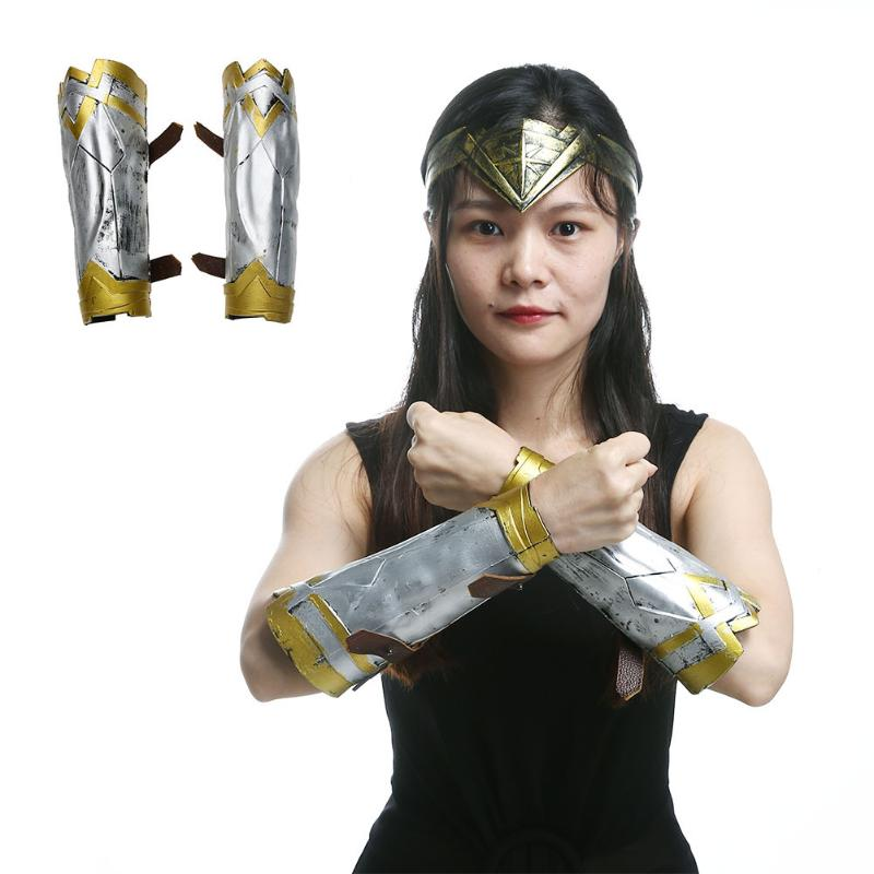 Wonder Woman Cosplay Tools Performance Arm Guard Props Wristbands Headband Headwear Props Magic Adult Children Toy