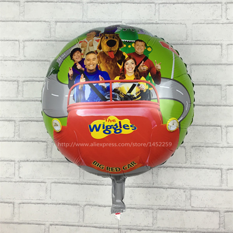 XXPWJ 5pcs / lot free shipping wiggles foil balloons party supplies helium balloons kids toys gifts I-001 ...
