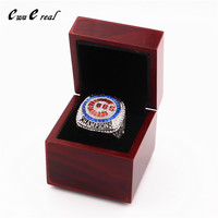 New 2016 US Size 8 To 15 BAEZ Chicago Cubs Series Champion Ring And Ring Wooden