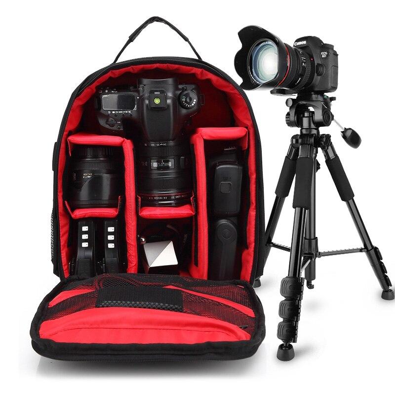 Sac à dos pour appareil photo reflex numérique pour Canon 200D 1300D 6D 7D 5D Mark II III 800D 77D 750D 60D Nikon D3400 D5300 Sony alpha A7 ii III