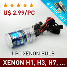 1 pc 35W H1, H3, H7, H8, H9, H11, HB3, Bulb HID Xenon Lamp Light Car Headlight all colors GLOWTEC + FREE GIFT