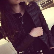 2016 Winter Spring Women in Europe and America a thin short section of cultivating outwear cotton padded warm jacket outwear