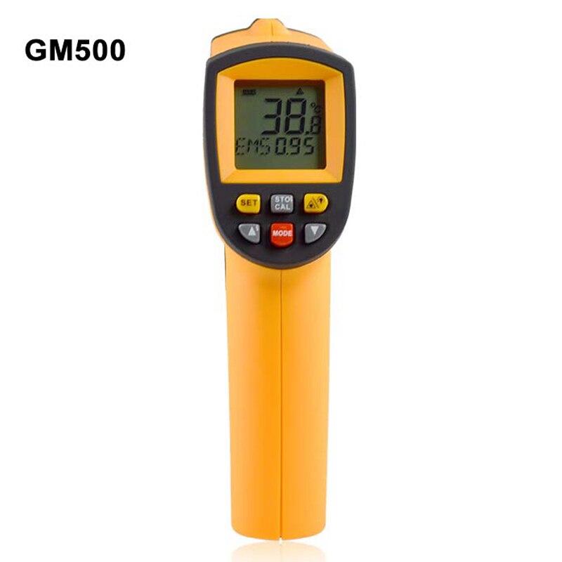 GM500 Non contact Digital Laser infrared thermometer -50~500C(-58~1022F) Themperature Pyrometer IR Laser Point Gun EMS 0.1-1.0  цены