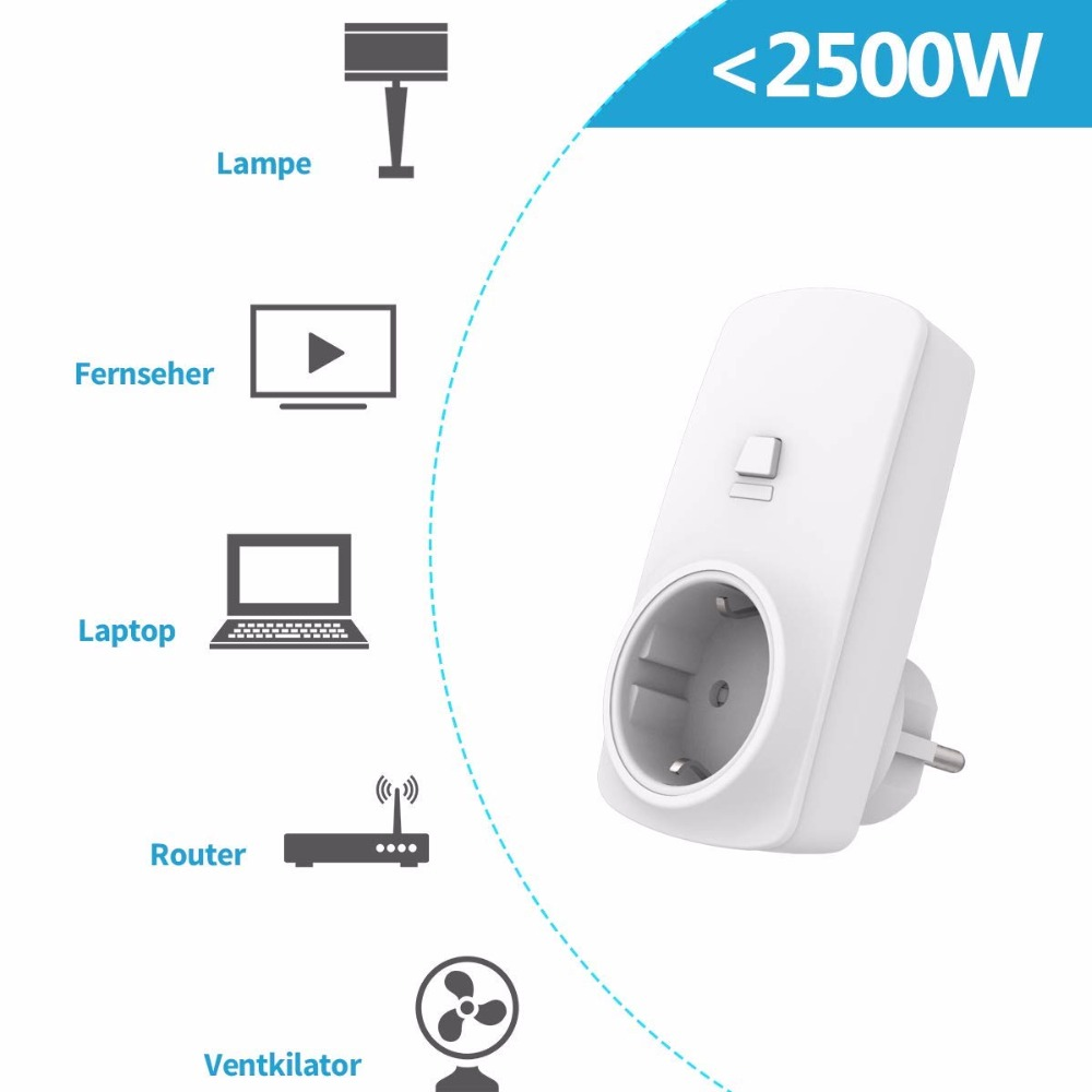 Image 4 - Wireless Socket Kit, EU Plug and MINI Wireless Switch, Mountable or Portable, Remote Control Device Outlet up to 30m-in Electrical Sockets from Home Improvement