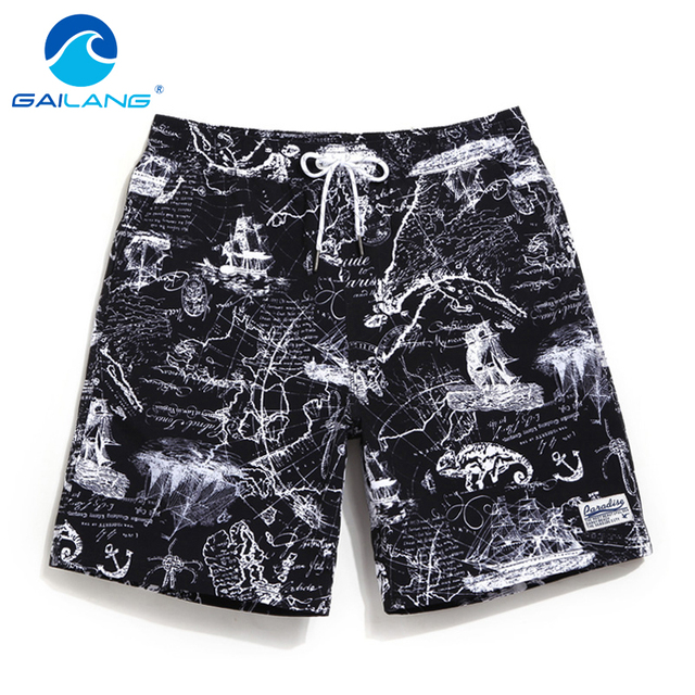 Gailang Brand Men Beach Shorts Board Boxer Trunks Boardshorts Quick Dry Men's Fashion Swimwear Swimsuits Casual Active Bottoms